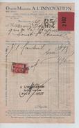 Facture Grands Magasins A L'Innovation Bruxelles En 1926 PR4428 - 1900 – 1949