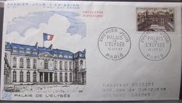 Enveloppe FDC 211 - 1957 - Palais De L'Elysée - YT 1126 - Storia Postale