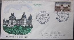 Enveloppe FDC 213 - 1957 -Château De Valençay - YT 1128 - Brieven En Documenten