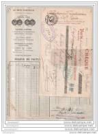 75 - 6527 PARIS 1922 Laines Cotons Canevas FILATURES Et  TEINTURERIES DE SAINT EPIN Succ POIRET FRERES 40 - 42 St Deni - Vestiario & Tessile