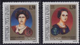 Croatia Republic Of Serbian Krajina 1996 Europa CEPT - Famous Women, MNH (**) Michel 59-60 - Croatie