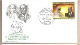 Costa D'Avorio - Busta Con Annullo Speciale: Visita Di S.S. Giovanni Paolo II - 1980 - Papas