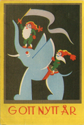 Mini AK - Zweden / Sweden - Small Card - Miniature - GOTT NYTT ÅR - Nieuwjaar / New Year - 1940 - Anno Nuovo
