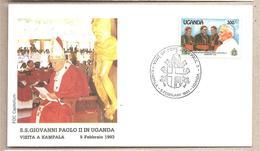 Uganda - Busta Con Annullo Speciale: Visita Di S.S. Giovanni Paolo II - 1993 - Papas