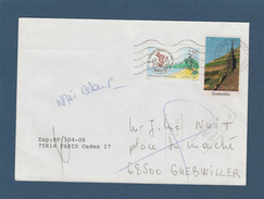 2735 De 1991 - Adresse Fantaisiste - M. NUIT à GUEBWILLER. 68 - Retour Cachet De Guebwiller - Voir 2 Scannes - Variedades Y Curiosidades