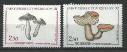 """SPM YT 497 Et 513 """" Champignons """" 1989-90 Neuf** - St.Pierre & Miquelon"""