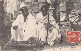 Afrique - Djibouti - Musiciens Du Pays  - Cachet Hexagonal Yokoama à Marseille N° 4 - 1912 - Gibuti