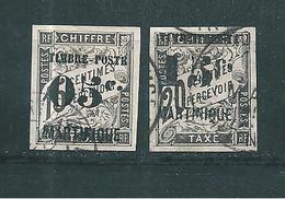 France Colonie  Timbres De Martinique  De 1891/92  N°20/21 Oblitérés - Martinique (1886-1947)