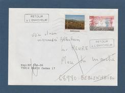 2771 De 1992 - Adresse Fantaisiste - M. HEURE à BEBLENHEIM 68 - Cachet Retour De Beblenheim - Voir 2 Scannes - Variedades Y Curiosidades