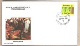 Zimbabwe - Busta Con Annullo Speciale: Visita Di S.S. Giovanni Paolo II - 1988 - Papas