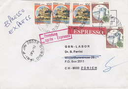 Eil-Brief 1981 Von Gubbio Nach Zürich (br0105) - 6. 1946-.. Republic