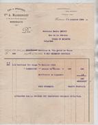 Facture Vve A.Maubourguet Vins&Spiritueux Bordeaux En 1924 Pour Court St.Etienne PR4430 - France