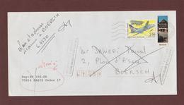 2778 De 1992 - Adresse Fantaisiste - M. SAMEDI à BOERSCH. 67 - Cachet Retour De OTTROTT & PARIS - Voir 2 Scannes - Variedades Y Curiosidades