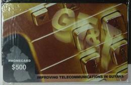 GUYANA - GT&T - Remote Memory - $500 - Reverse B - Mint Blister - Guyane