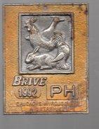Brive Corrèze  , Plaque Métallique EXPOSITION NATIONALE  D'AVICULTURE 1992 (P.006) - Autres Collections