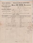 Facture Henri De Rom Successeur Gravure Artistique Bruxelles En 1909 PR4433 - Belgium