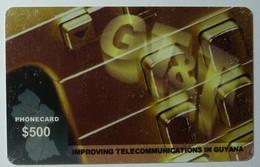 GUYANA - GT&T - Remote Memory - $500 - Reverse A - Used - RRR - Guyana