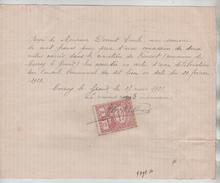 Reçu De 100 Frs Rédigé à Corroy-Le-Grand En 1923 TP Fiscal PR4434 - Belgium