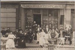CPA PHOTO 75 PARIS XI 56 Boulevard Richard LENOIR Commerce Café Vins Bière FILLEY Maison BODIN 1911 Rare - District 11