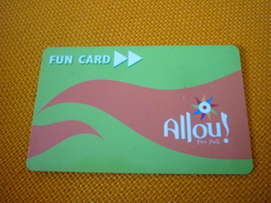 Allou Fan Park Magnetic Entrance Card From Greece - Jeux