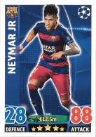 CARTE TOPPS MATCH ATAX CHAMPIONS LEAGUE 2015-16 - FC BARCELONE - NEYMAR JR N°249 - Trading-Karten