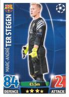 CARTE TOPPS MATCH ATAX CHAMPIONS LEAGUE 2015-16 - FC BARCELONE - MARC ANDRE TER STEGEN N°235 - Trading-Karten