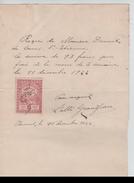 Reçu De 93 Frs Rédigé à Vieusart En 1922 TP Fiscal PR4435 - Belgium