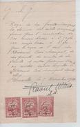Reçu De 1050 Frs Rédigé à Bruxelles En 1922 TP Fiscaux PR4436 - 1900 – 1949