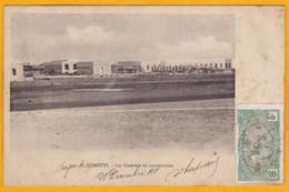 1911 - CP De Djibouti, Côte Française Des Somalis Vers Roubaix, France - Timbre 5 C Seul - Vue Des Casernes - Côte Française Des Somalis (1894-1967)