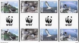 Aitutaki 2016, WWF, Water Birds, 4val In Gutter With Logo - W.W.F.