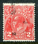 Australia 1931-36 KGV Heads (Wmk. CofA) - 2d Golden Scarlet Used (SG 127) - 1913-36 George V: Heads
