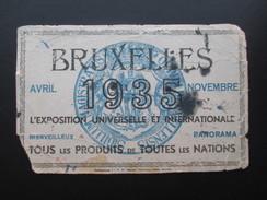 VP BUVARD (M1704) BRUXELLES 1935 Exposition Universelle & Internationale (2 Vues) Tous Les Produits De Toutes Les Nation - Buvards, Protège-cahiers Illustrés