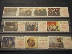 RUSSIA - 1970 QUADRI LENIN  10 VALORI -  NUOVI(++) - Unused Stamps