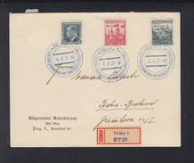 Czechoslovakia Registered Cover 1937 BIT - Czechoslovakia