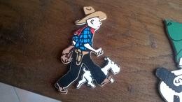 TINTIN DECOUPE EN BOIS TROUSSELIER TINTIN EN COWBOYS    HERGE - Tintin