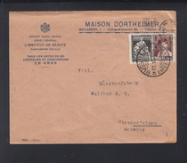 Romania Cover 1929 Maison Dortheimer To Switzerland - 1918-1948 Ferdinand, Carol II. & Mihai I.