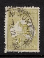 "Australia  1915   ""3d Indigo Roo - 3rd WMK""   FU   (0) - 1913-48 Kangaroos"