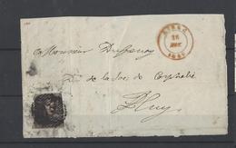 Nr 1 Op Fragment Gestempeld - 1849 Epauletten