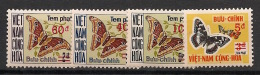 Vietnam Du Sud - 1974 - Taxe N°Yv. 21 à 24 - Papillons - Neuf Luxe ** / MNH / Postfrisch - Viêt-Nam