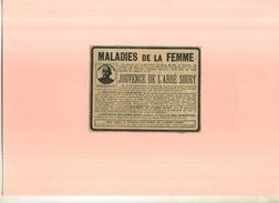 FRANCE . JOUVENCE DE L'ABBE SOURY  . PUB  DES ANNEES 1920  . DECOUPEE ET COLLEE SUR PAPIER . - Publicités