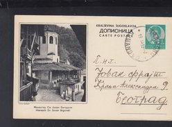 Yugoslavia Stationery 1939 Manastir Sv. Jovan Bigorski - Ganzsachen