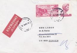 R-Brief 1981 Von Schio (VI) Nach Zürich (br0110) - 6. 1946-.. Republic