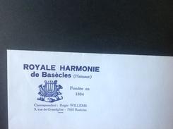 PAD. 53. Lettre à En-tête Publicitaire Royale Harmonie à Basècles. - Publicidad