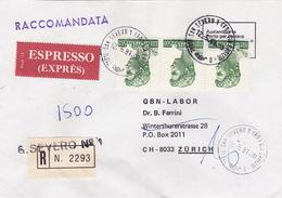 Eil-R-Brief 1981 Von San Severo (FG) Nach Zürich (br0112) - 6. 1946-.. Republic