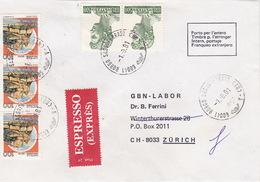Eil-Brief 1981 Von Borgo Sassoferrato (AN) Nach Zürich (br0114) - 6. 1946-.. Republic