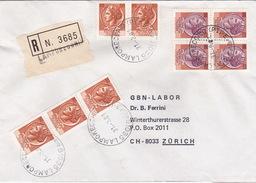 R-Brief 1981 Von Lamporecchio (PT) Nach Zürich (br0115) - 6. 1946-.. Republic