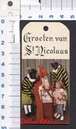 St. Nicolaas Kaartjes Voor Cadeau S. ( Originalscan !!! ) - Unclassified