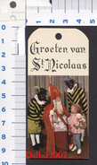 St. Nicolaas Kaartjes Voor Cadeau S. ( Originalscan !!! ) - Saisons & Fêtes