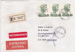 Eil-R-Brief 1981 Von Città Della Pieve (PG) Nach Zürich (br0114) - 6. 1946-.. Republic