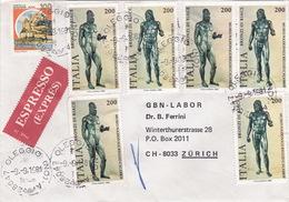Eil-Brief 1981 Von Oleggio (NO) Nach Zürich (br0117) - 6. 1946-.. Republik